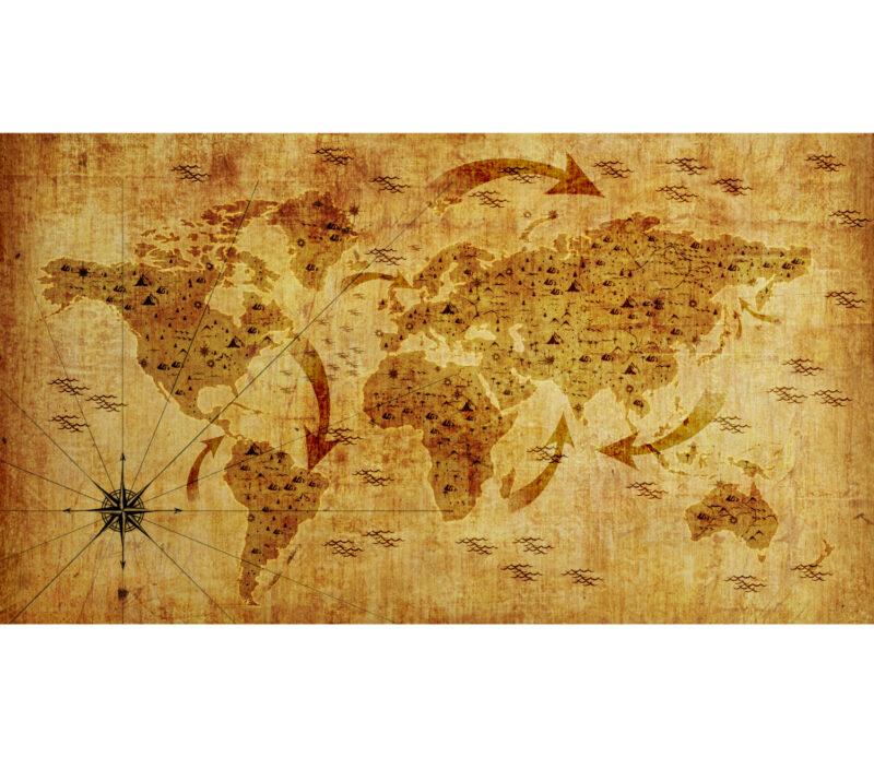 Being World Map Duvar Kagidi