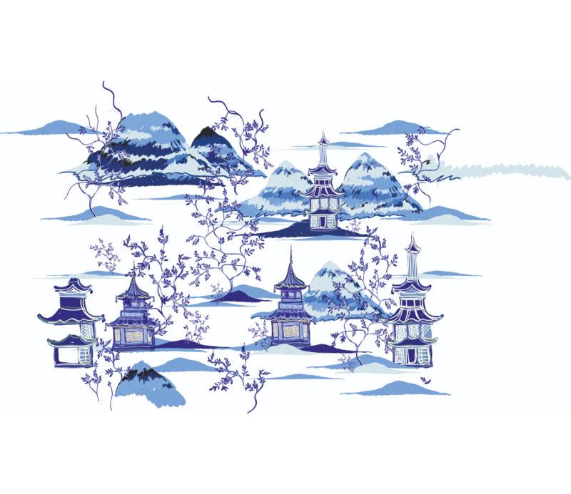Blue Duvar Kagidi