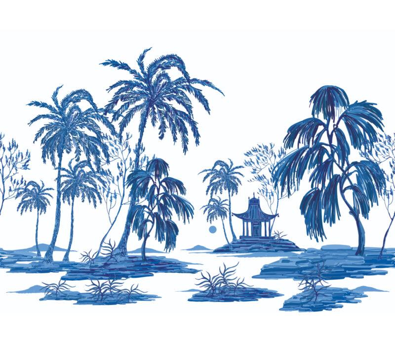 Blue Forest Duvar Kagidi