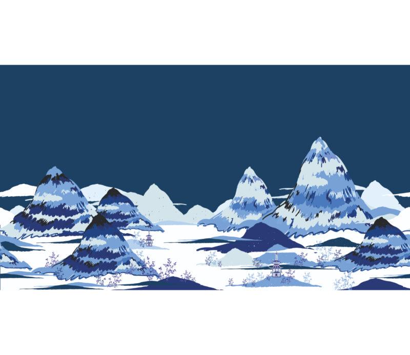 Blue Mountain Duvar Kagidi