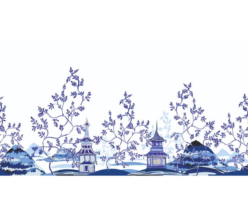 Blue Village Duvar Kagidi