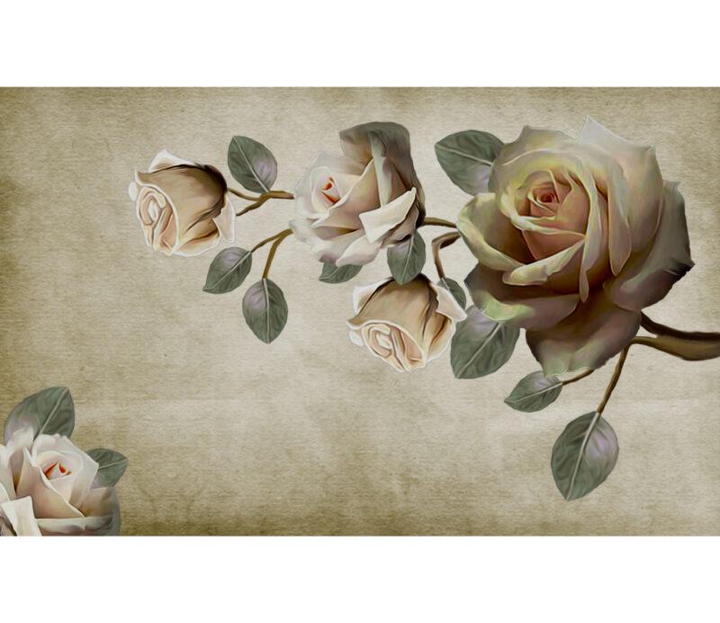 Vintage Rose Duvar Kagidi