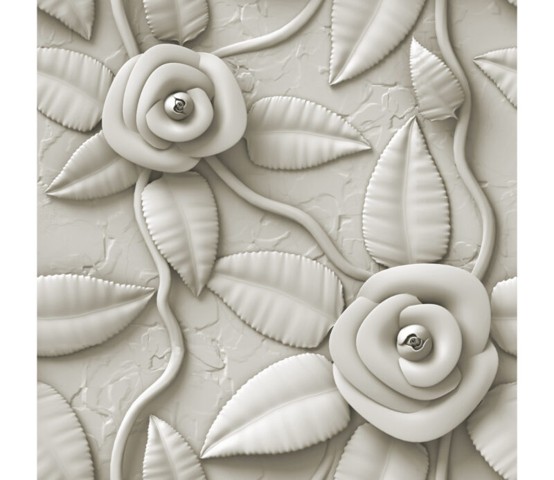 White Rose Duvar Kagidi
